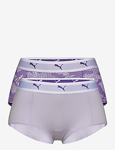 PUMA AOP MINI SHORT 2P HANG - slips - purple combo