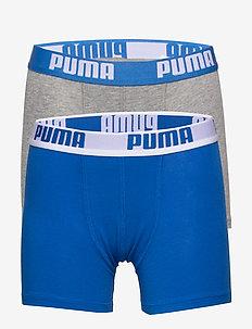 PUMA BOYS BASIC BOXER 2P - doły - blue / grey