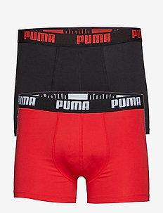 PUMA BASIC BOXER 2P - unterwäsche - red / black