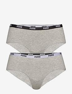 PUMA ICONIC HIPSTER 2P HANG - boxers - grey / grey