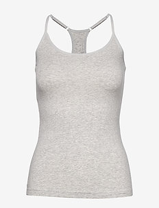 PUMA ICONIC RACER BACK TANK TOP 1P - tank tops - grey melange