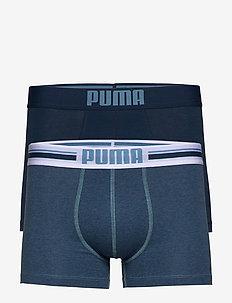 PUMA PLACED LOGO BOXER 2P - underwear - denim