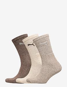 PUMA SPORT 3P - regulære sokker - chocolate / walnut / safari