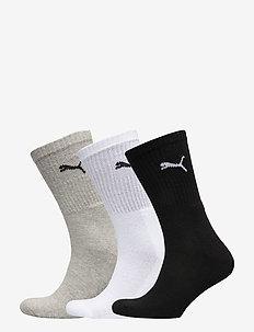 PUMA CREW SOCK 3P - chaussettes régulières - white / grey / black