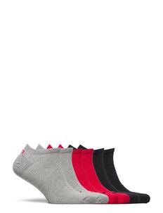 PUMA UNISEX SNEAKER PLAIN 6P ECOM - ankelstrumpor - grey / black / red combo