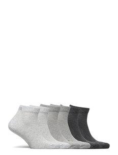 PUMA UNISEX QUARTER PLAIN 6P ECOM - knöchelsocken - grey combo