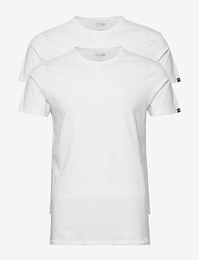 PUMA BASIC 2P CREW TEE - t-shirts - white