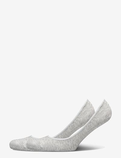 PUMA WOMEN FOOTIE 2P - ankelstrumpor - grey melange