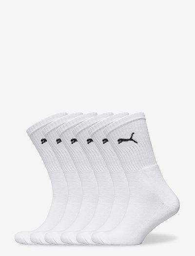 PUMA CREW SOCK 6P - kousen - white