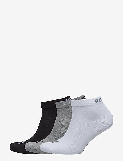 PUMA UNISEX QUARTER PLAIN 3P - kousen - grey/white/black