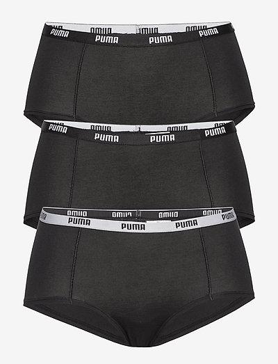 PUMA MINI SHORT 3P PACK - hipster & hotpants - black