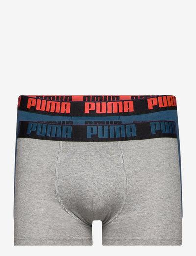 PUMA BASIC BOXER 2P - boxerkalsonger - intense blue / grey m?lange