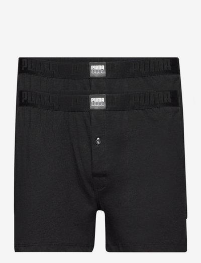 PUMA MEN LOOSE JERSEY BOXER 2P - boxershorts - black