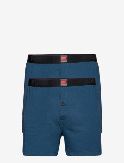 PUMA MEN LOOSE JERSEY BOXER 2P - boxershorts - intense blue