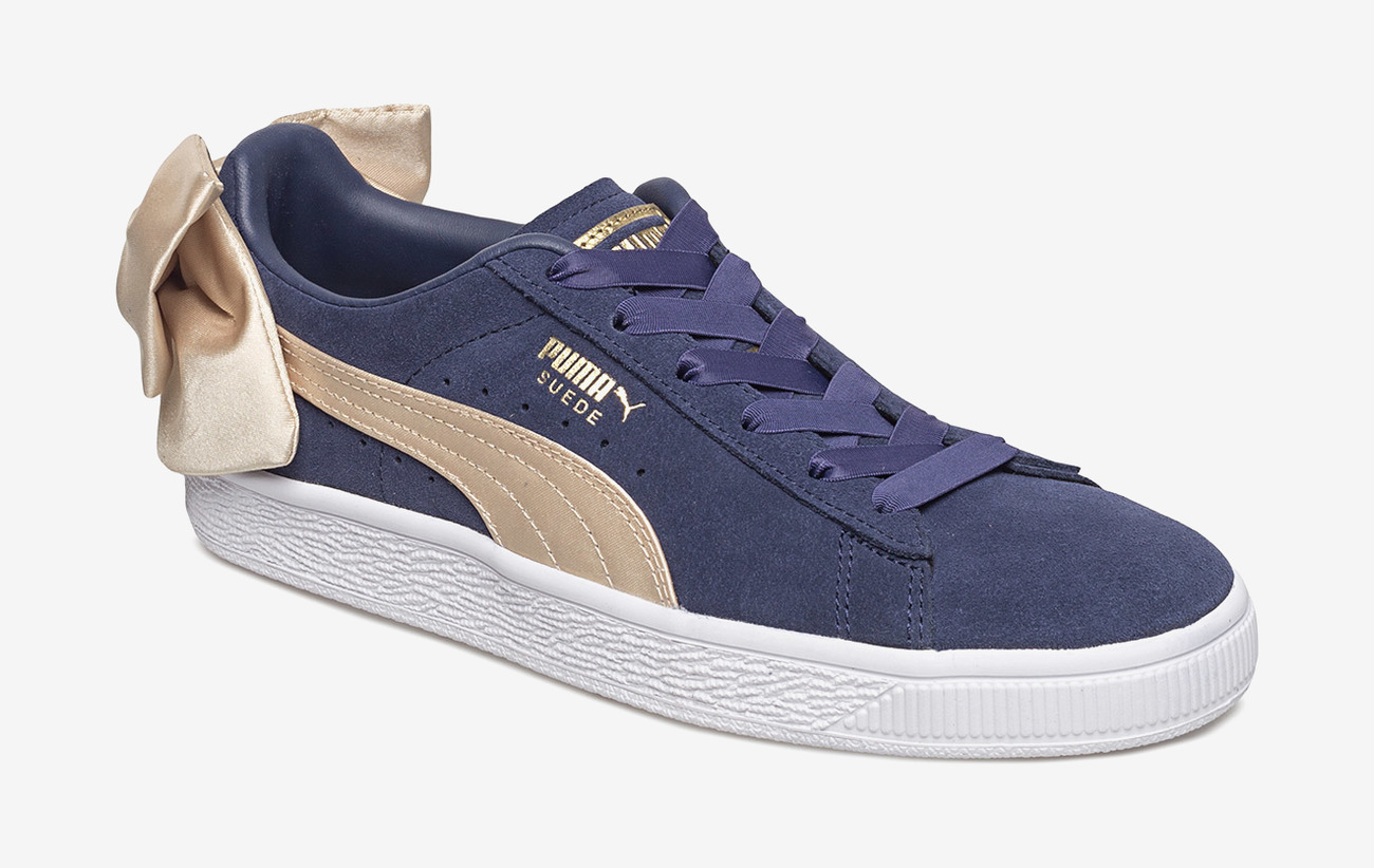 Suede Bow Varsity Wns (Peacoat metallic Gold) (45 €) PUMA