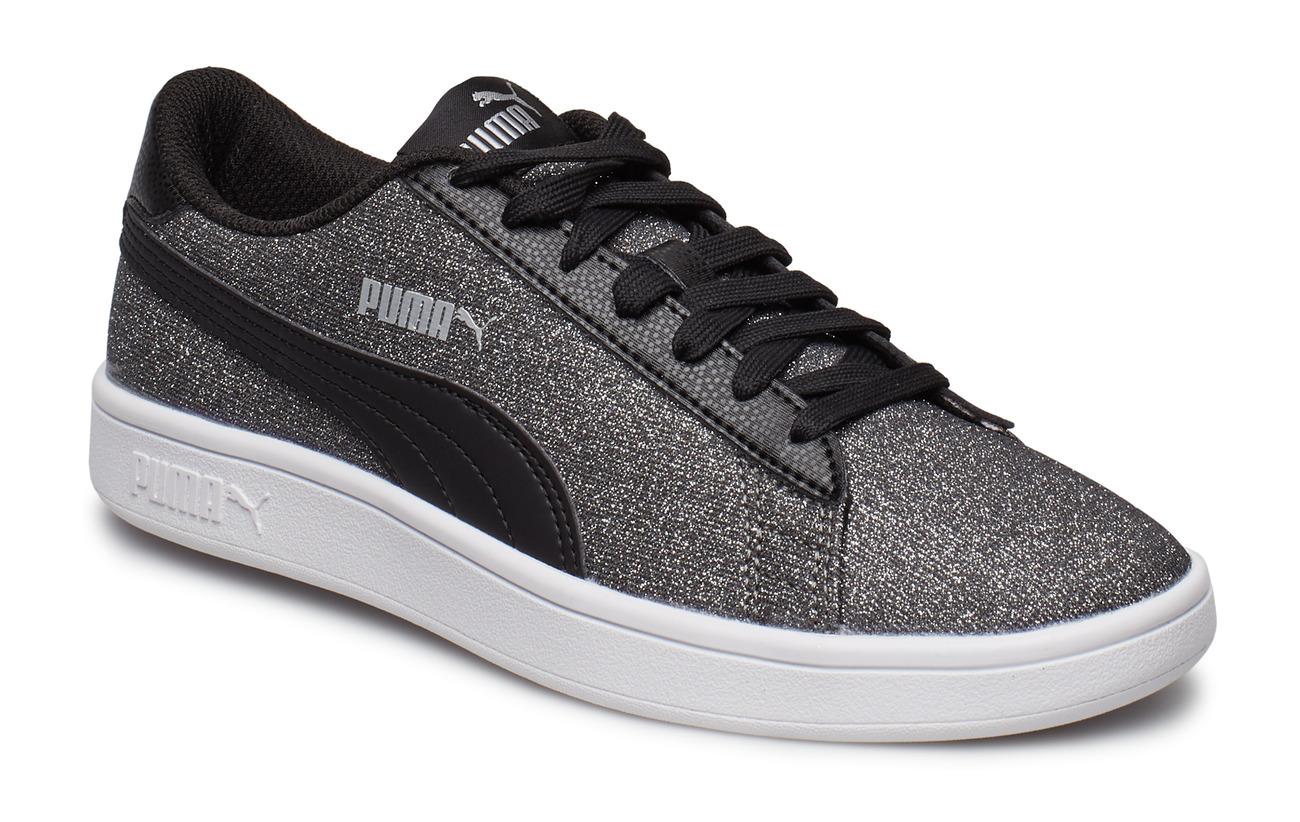 Puma Smash v2 Glitz Glam JR Sneakers F Aqua P Pink Silver White