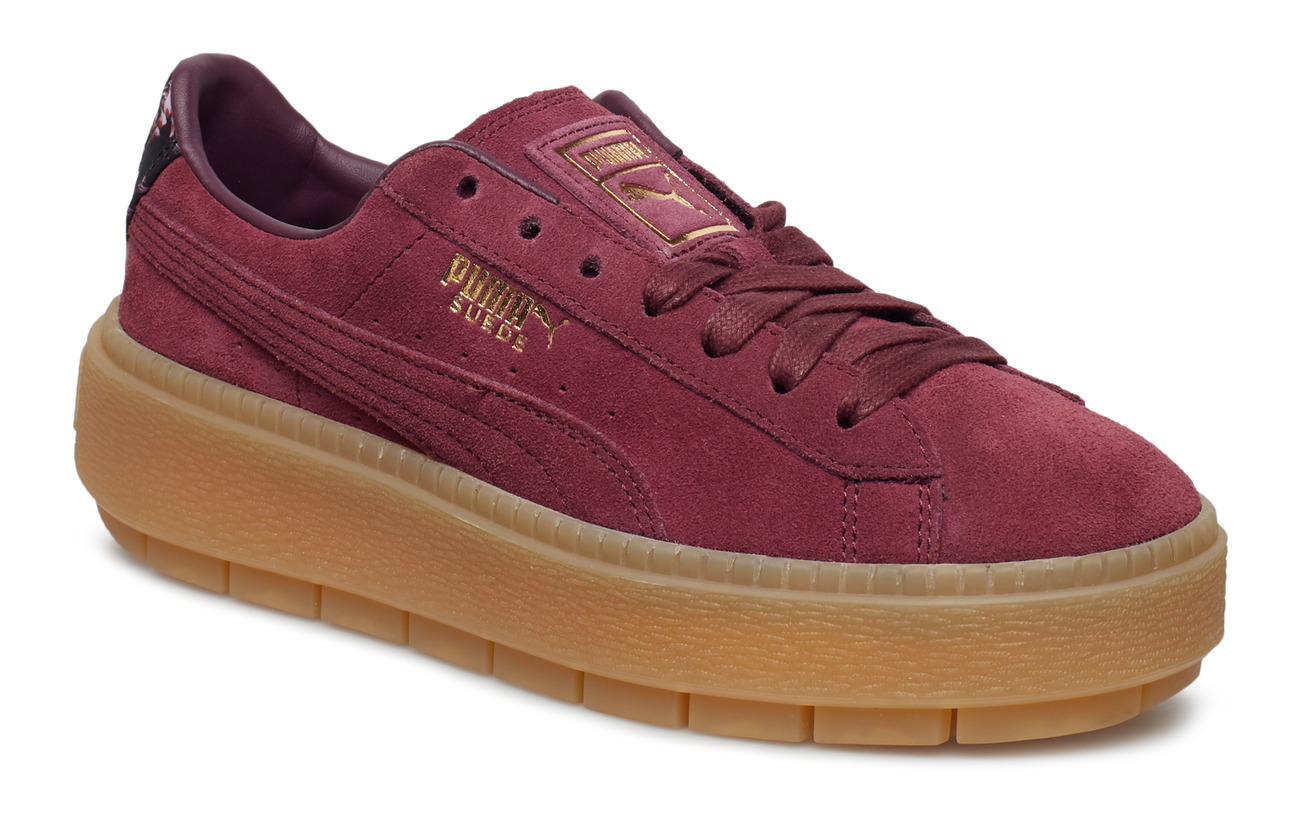 low priced cd58e 27523 Suede Platform Trace Peonies