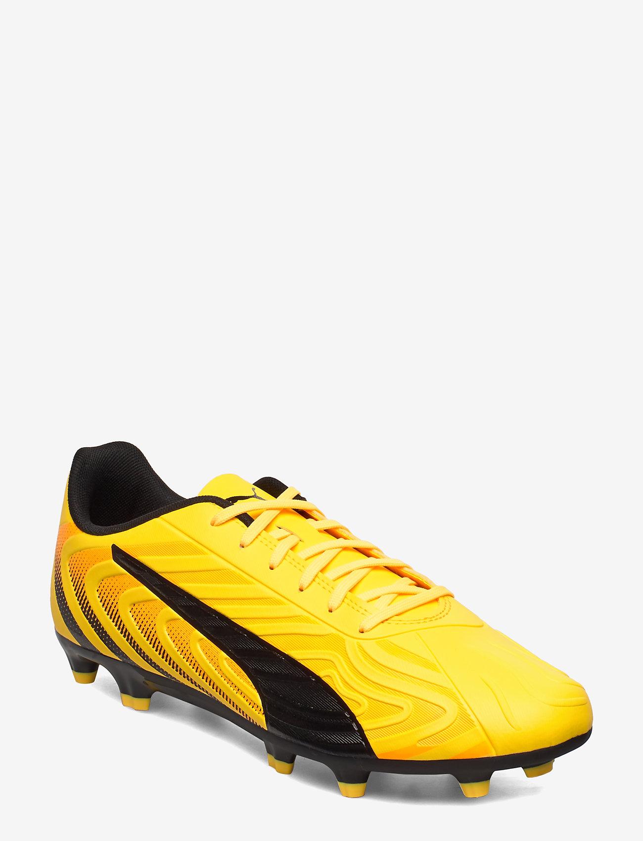 PUMA - PUMA ONE 20.4 FG/AG - jalkapallokengät - ultra yellow-puma black-orange aler - 0