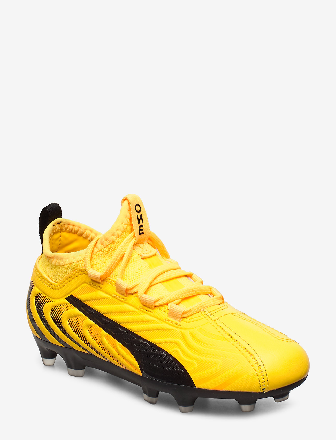 PUMA - PUMA ONE 20.3 FG/AG Jr - buty sportowe - ultra yellow-puma black-orange aler - 0