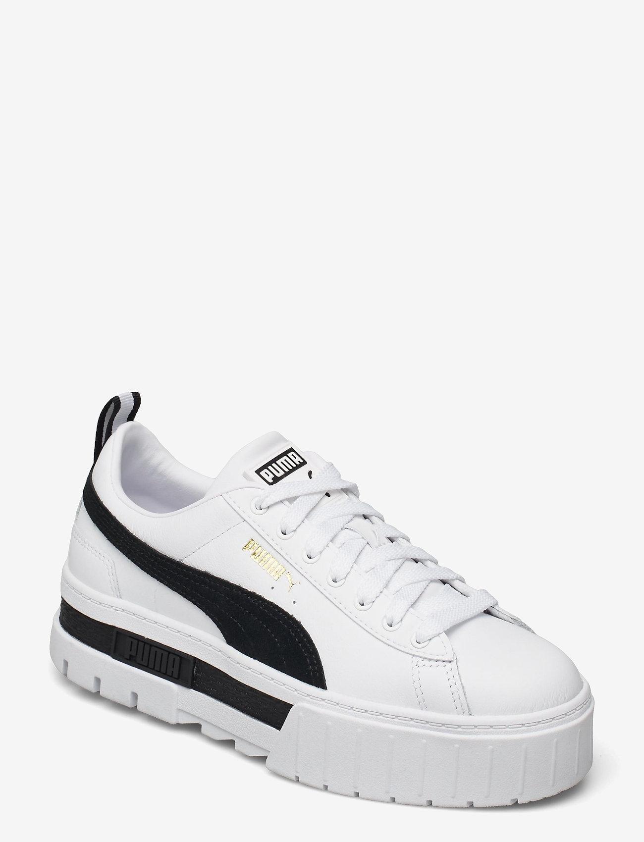 PUMA - Mayze Lth Wn's - baskets épaisses - puma white-puma black - 1