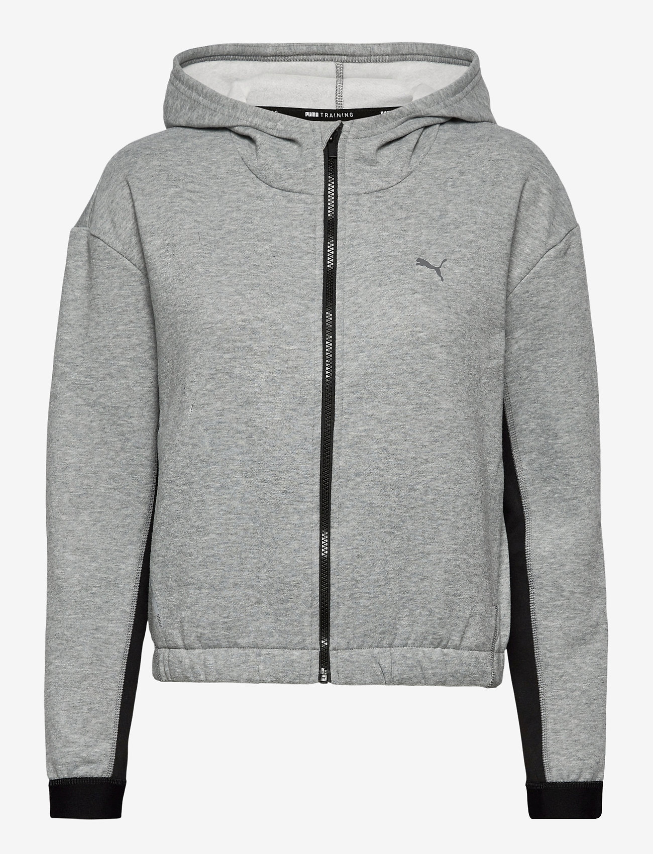 PUMA - Train Favorite Fleece Full Zip Hoodie - hupparit - medium gray heather - 0