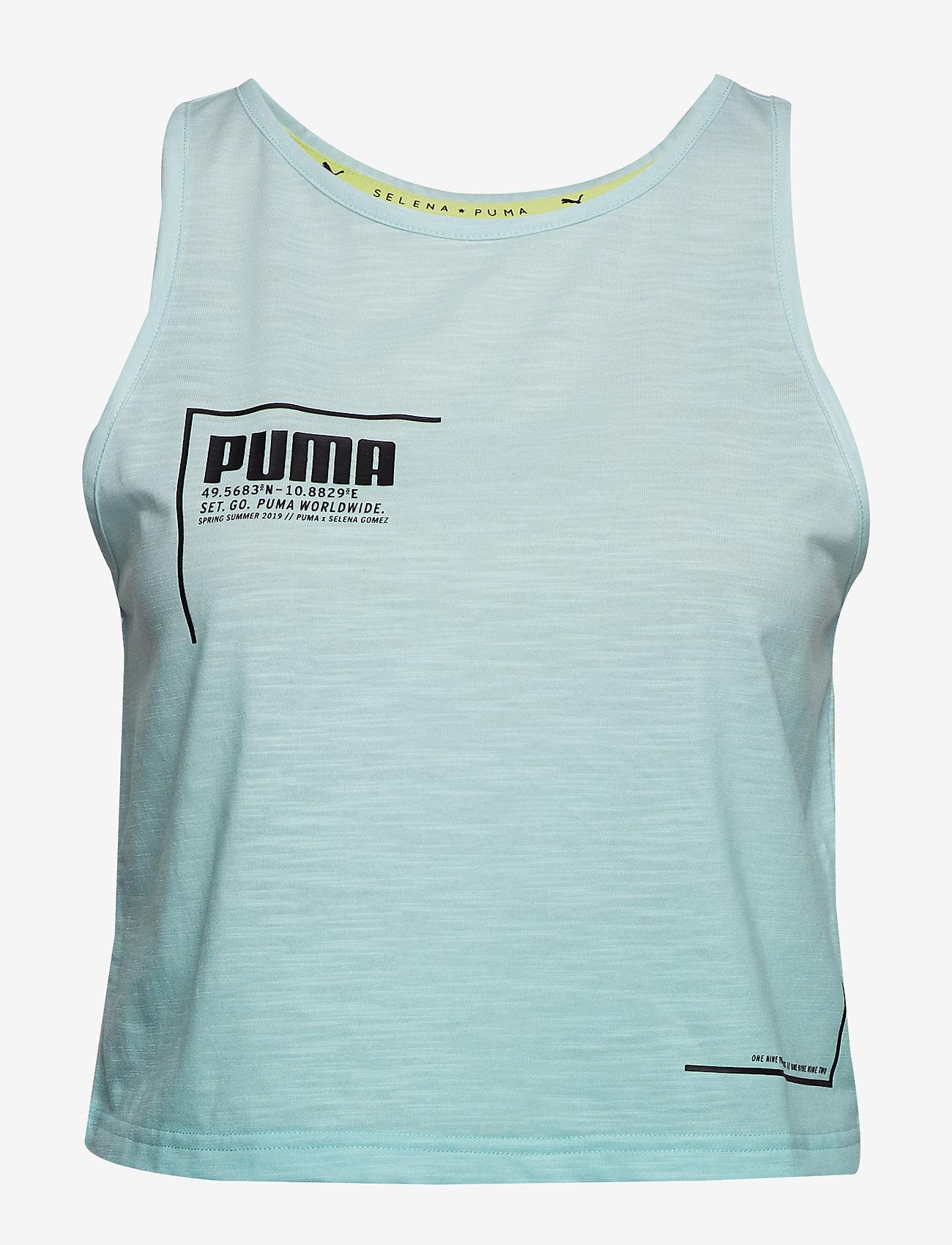 PUMA - PUMA x SG Tank 2 - crop tops - fair aqua gradient