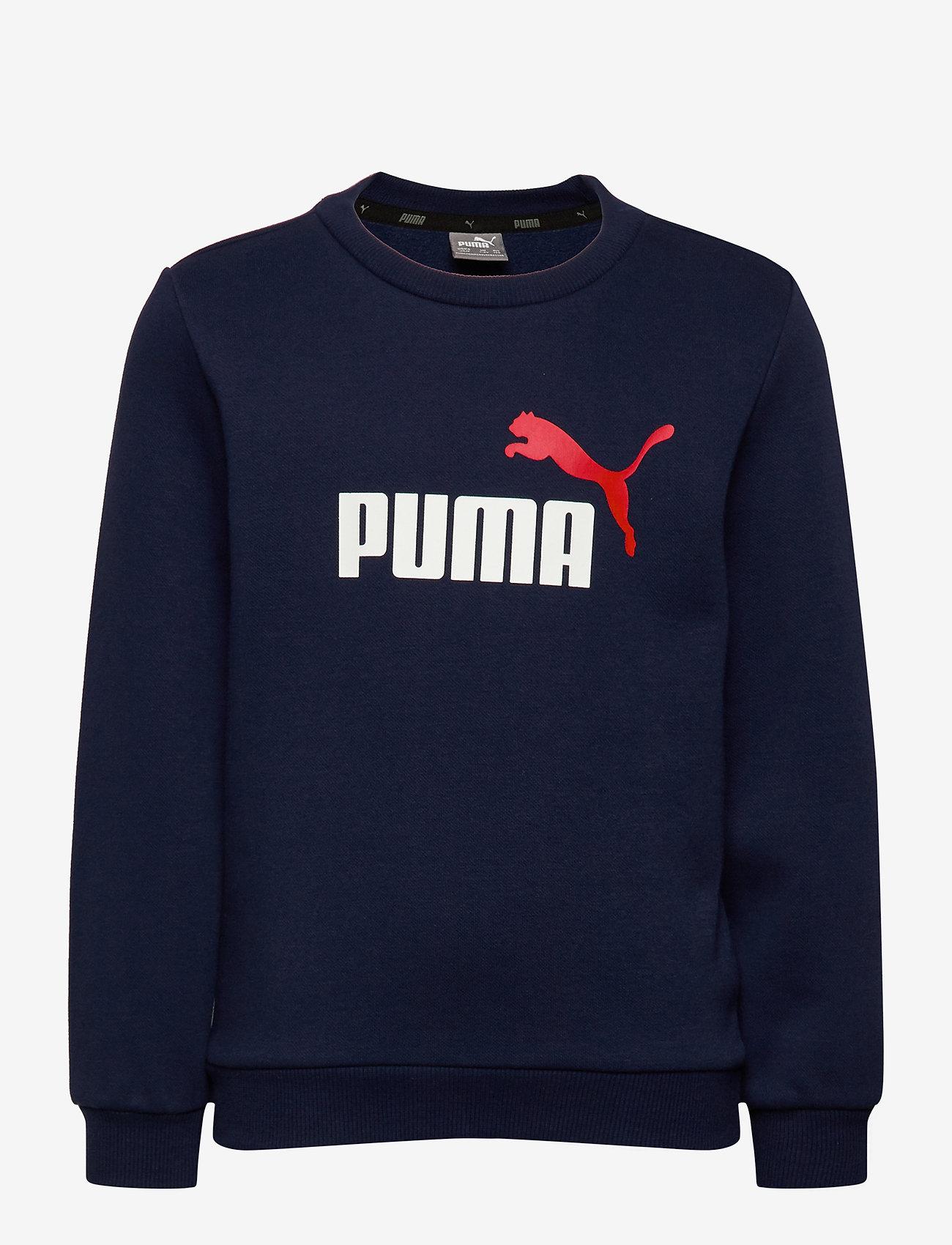PUMA - ESS 2 Col Crew Sweat FL B - sweatshirts - peacoat - 0