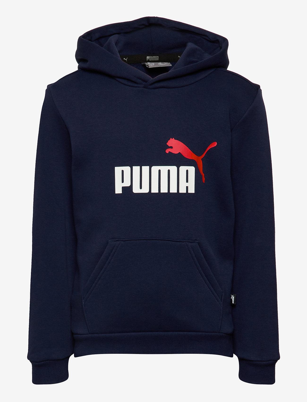 PUMA - ESS 2 Col Hoody FL B - kapuzenpullover - peacoat - 0