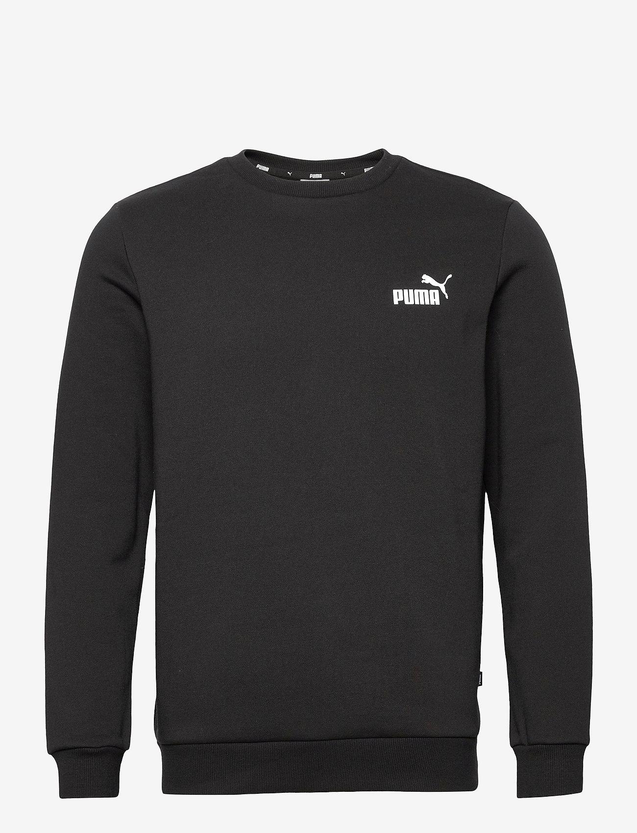 PUMA - ESS Small Logo Crew FL - Överdelar - puma black - 0