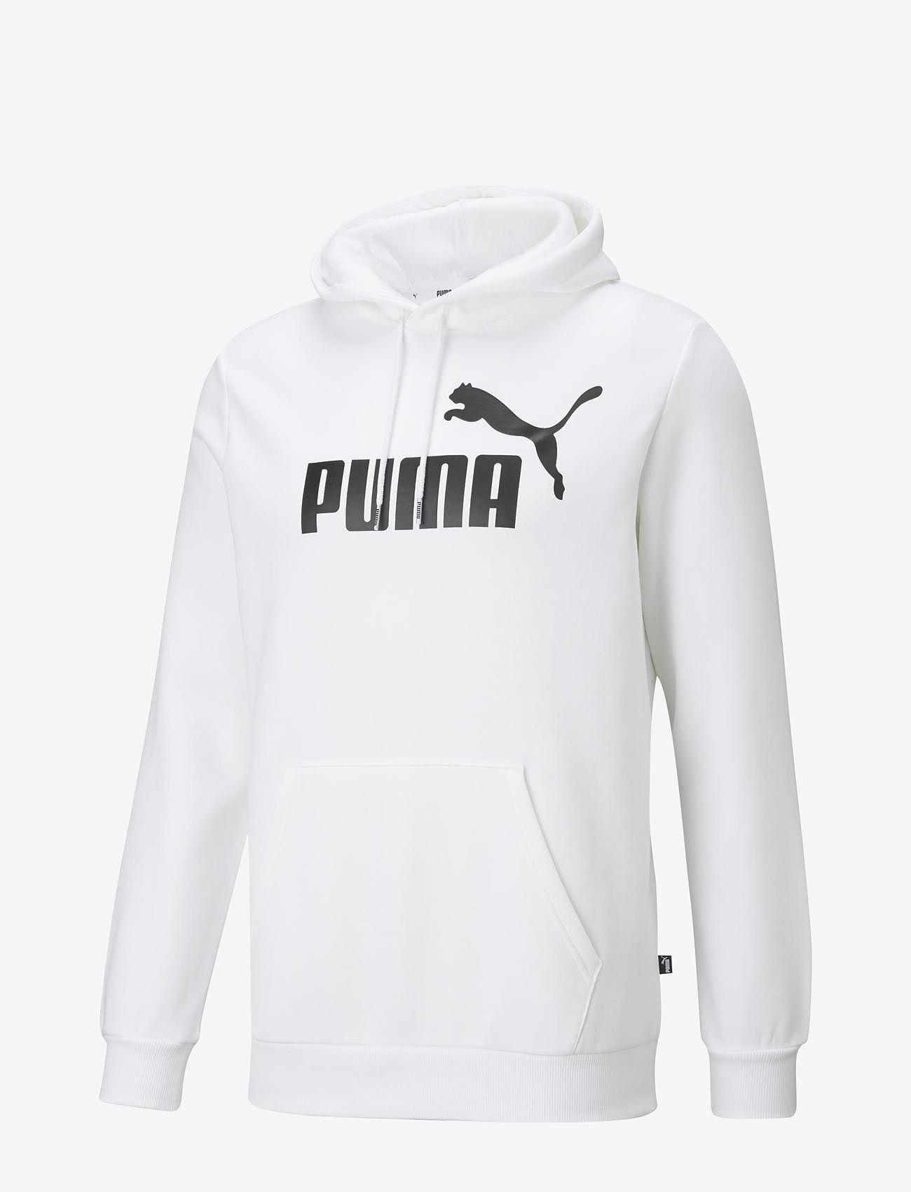 PUMA - ESS Big Logo Hoodie FL - huvtröjor - puma white - 1