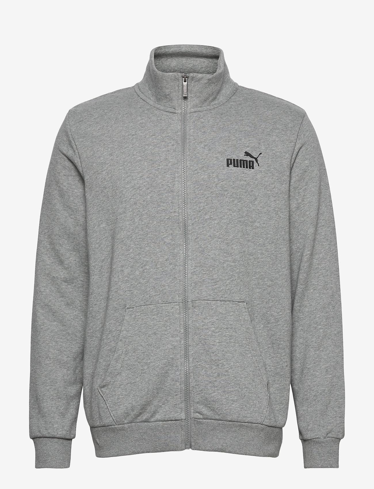 PUMA - ESS Track Jacket TR - Överdelar - medium gray heather - 1