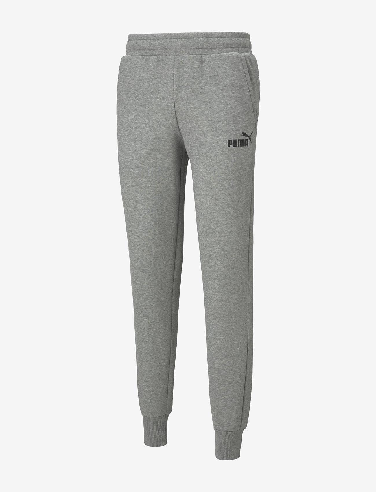 PUMA - ESS Logo Pants FL cl - sweatpants - medium gray heather - 0