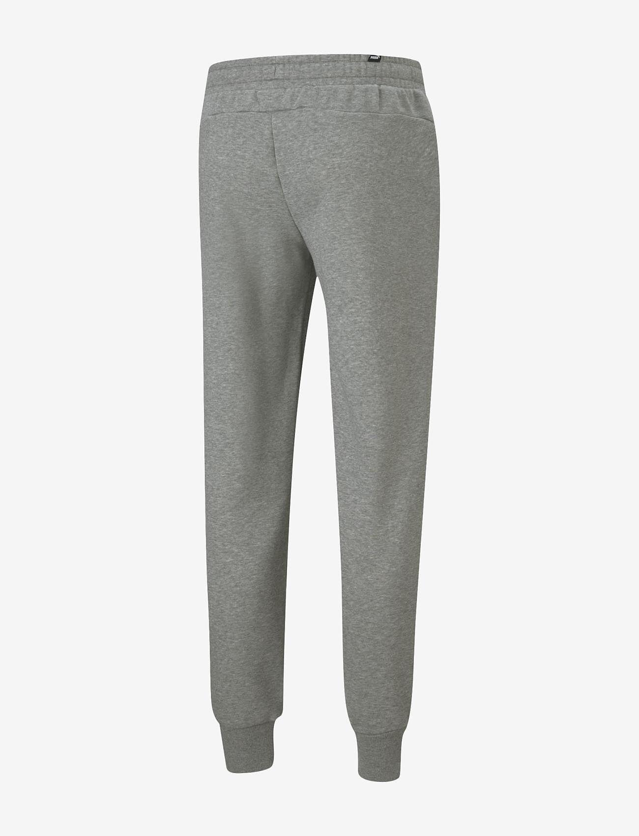 PUMA - ESS Logo Pants FL cl - sweatpants - medium gray heather - 1