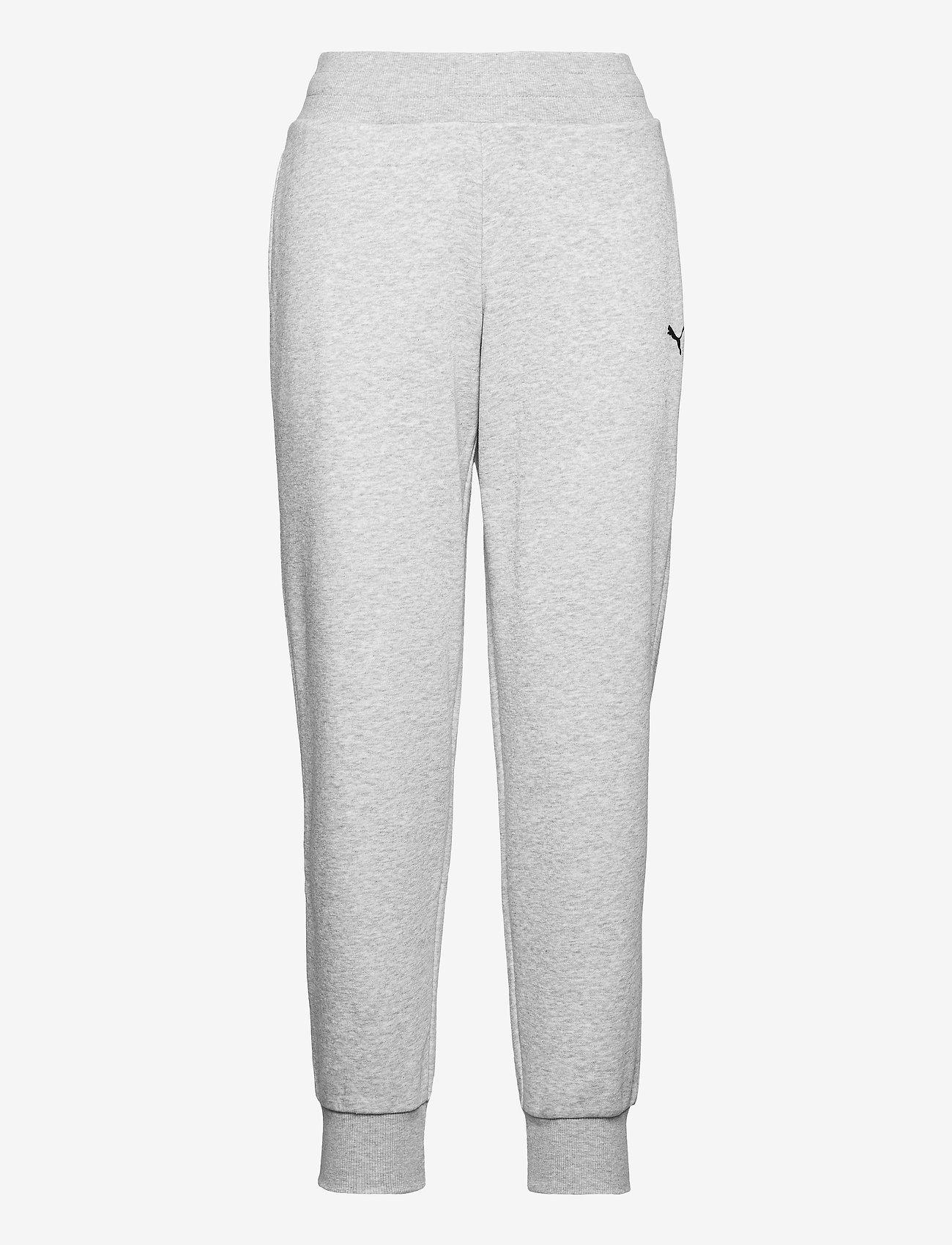 PUMA - ESS Sweatpants FL cl - bukser - light gray heather-cat - 0