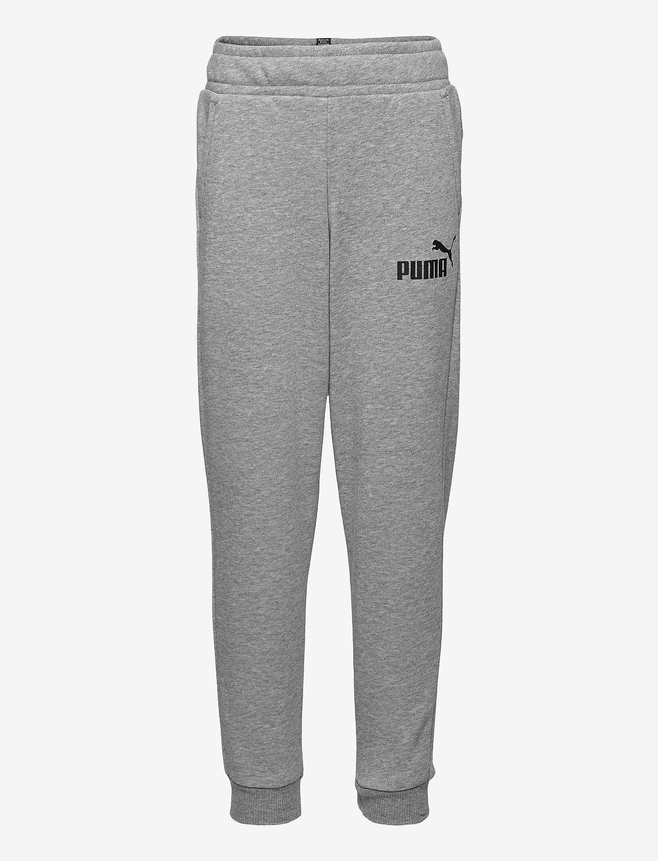 PUMA - ESS Logo Pants TR cl B - sportunderdelar - medium gray heather - 0