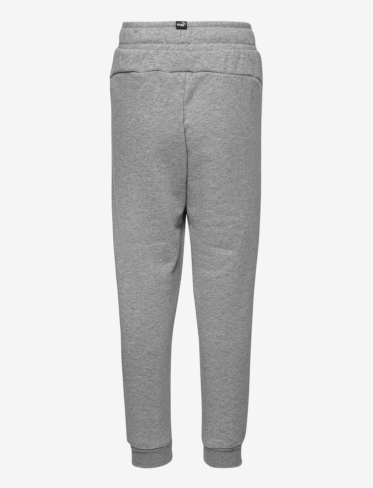 PUMA - ESS Logo Pants TR cl B - sportunderdelar - medium gray heather - 1
