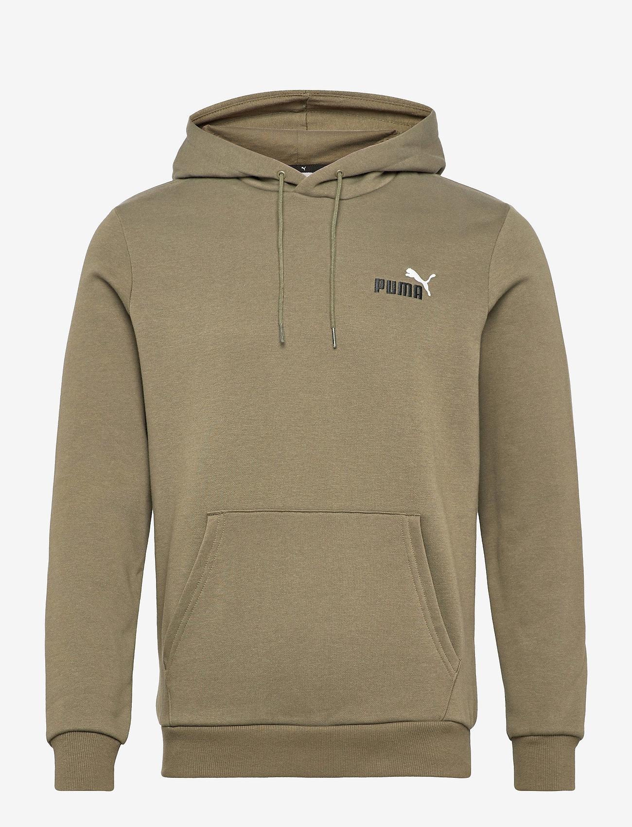 PUMA - ESS+ Embroidery Logo Hoodie FL - huvtröjor - grape leaf - 0
