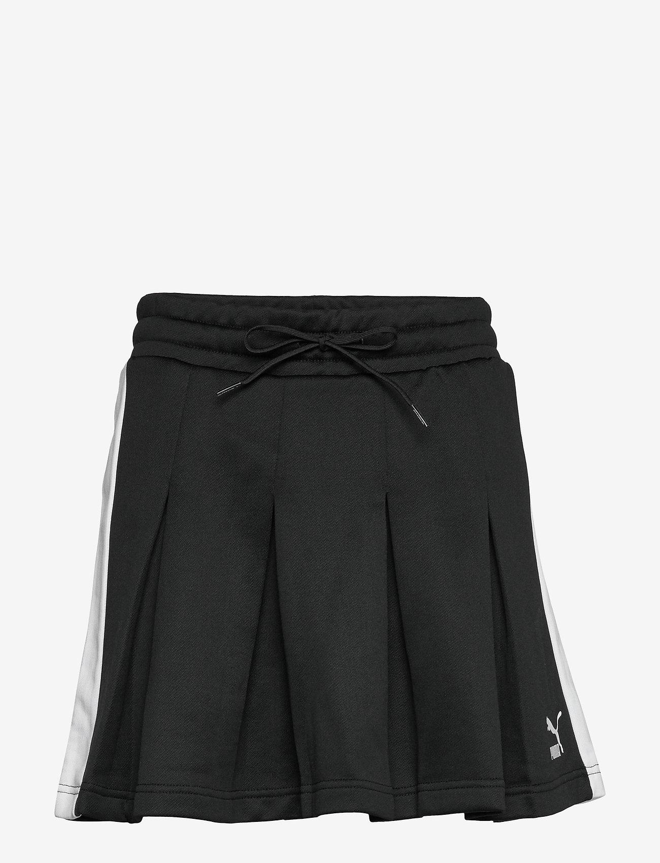 PUMA - Classics T7 Pleated Skirt - sports skirts - puma black - 0