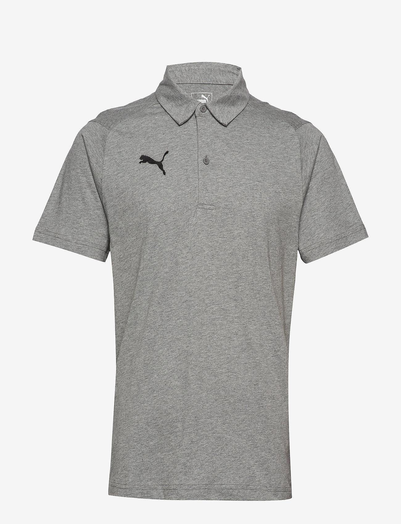 PUMA - LIGA Casuals Polo - football shirts - medium gray heather-puma black - 0