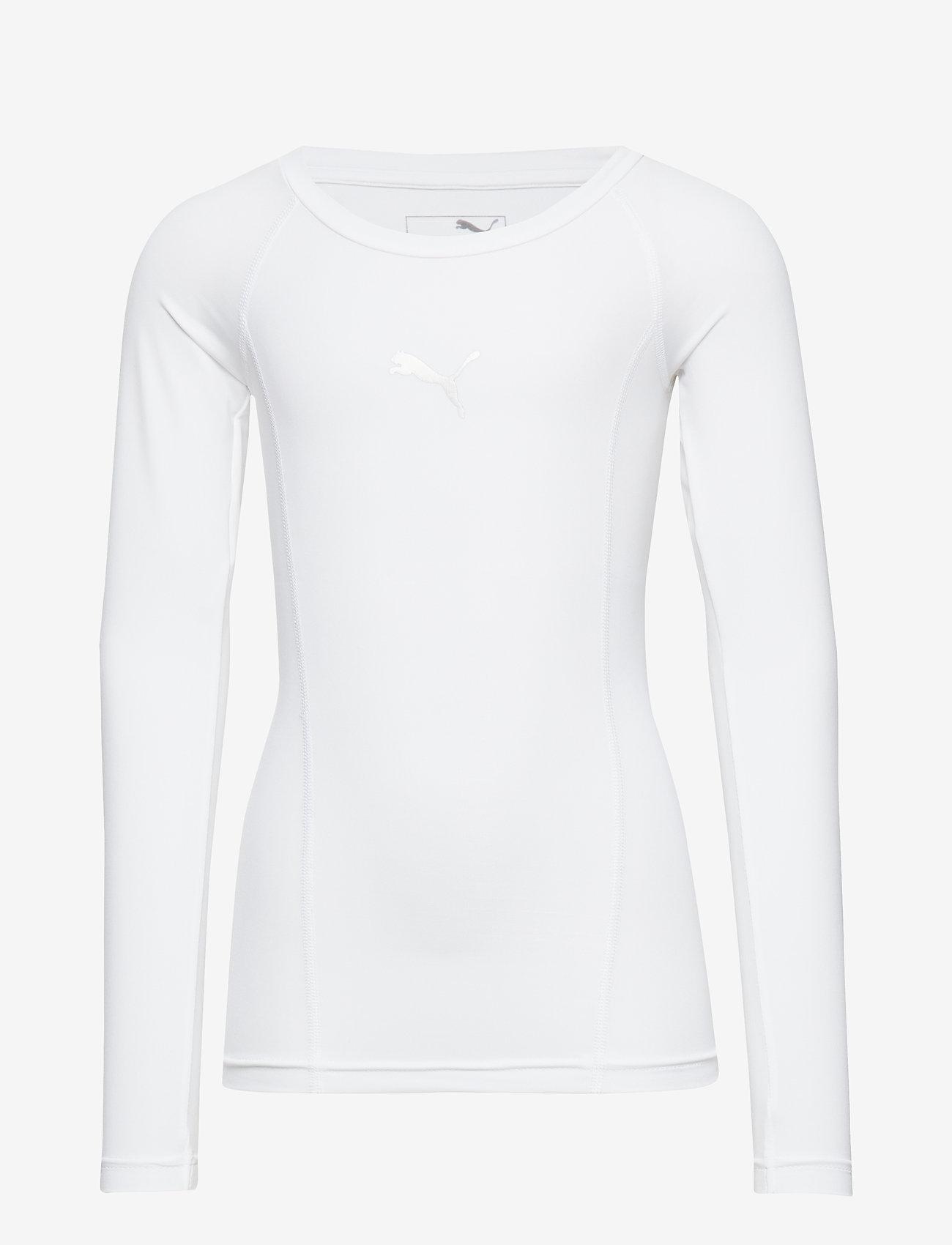PUMA - LIGA Baselayer Tee LS Jr - long-sleeved t-shirts - puma white - 0