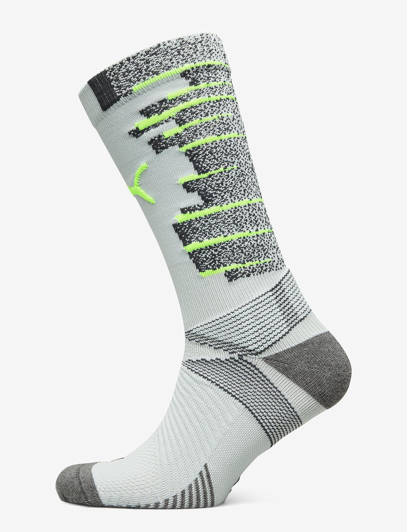 PUMA - Team ftblNXT Socks - skarpetki piłkarskie - grey dawn-yellow alert - 1