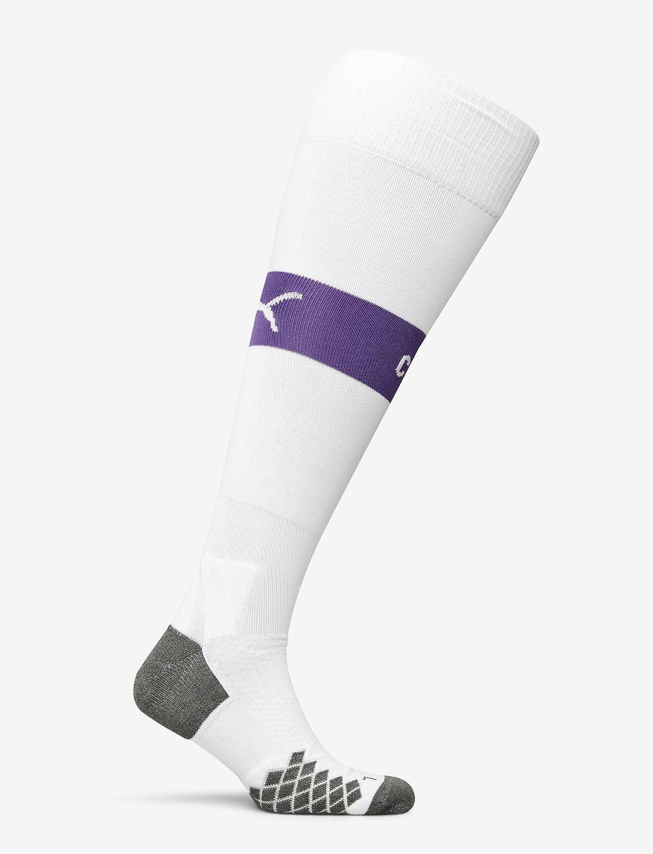 Puma Team Mcfc Band Socks - Strumpor & Tights White-tillandsia Purple