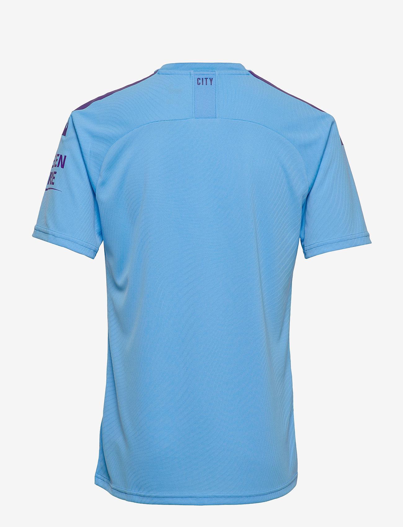 PUMA - MCFC HOME Shirt Replica SS with  Sponsor Logo - football shirts - team light blue-tillandsia purple - 1