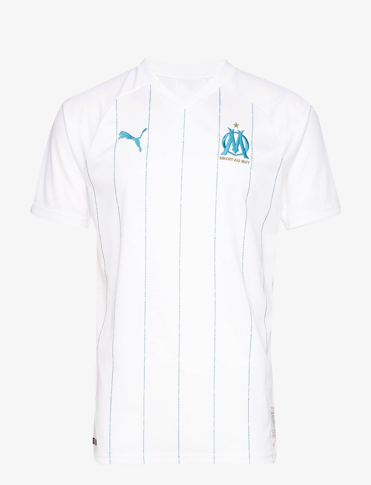 PUMA - OM HOME Shirt Replica SS WITH sponsor - football shirts - puma white-bleu azur - 0