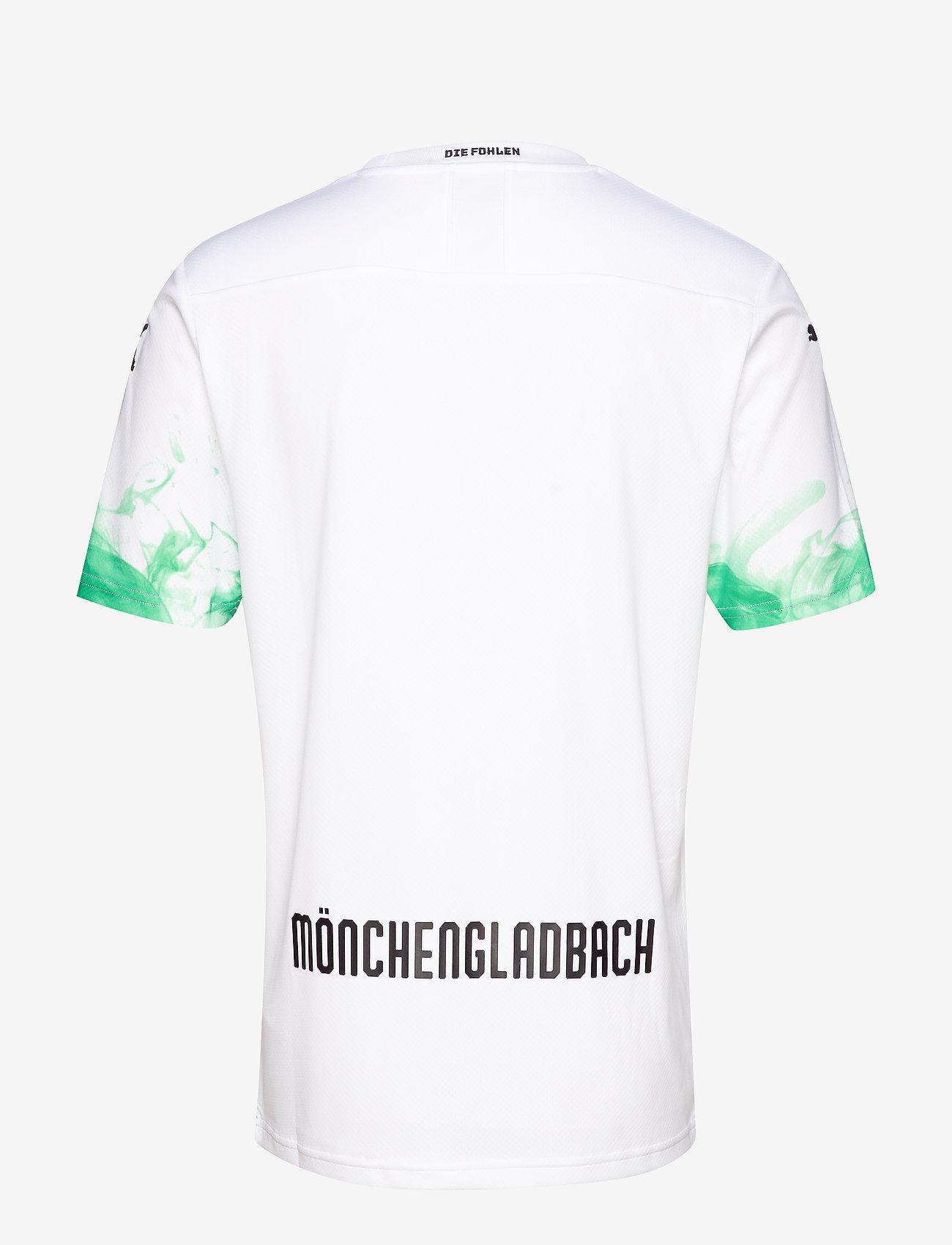 PUMA - BMG Home Shirt Replica with sponsor - football shirts - puma white-bright green - 1