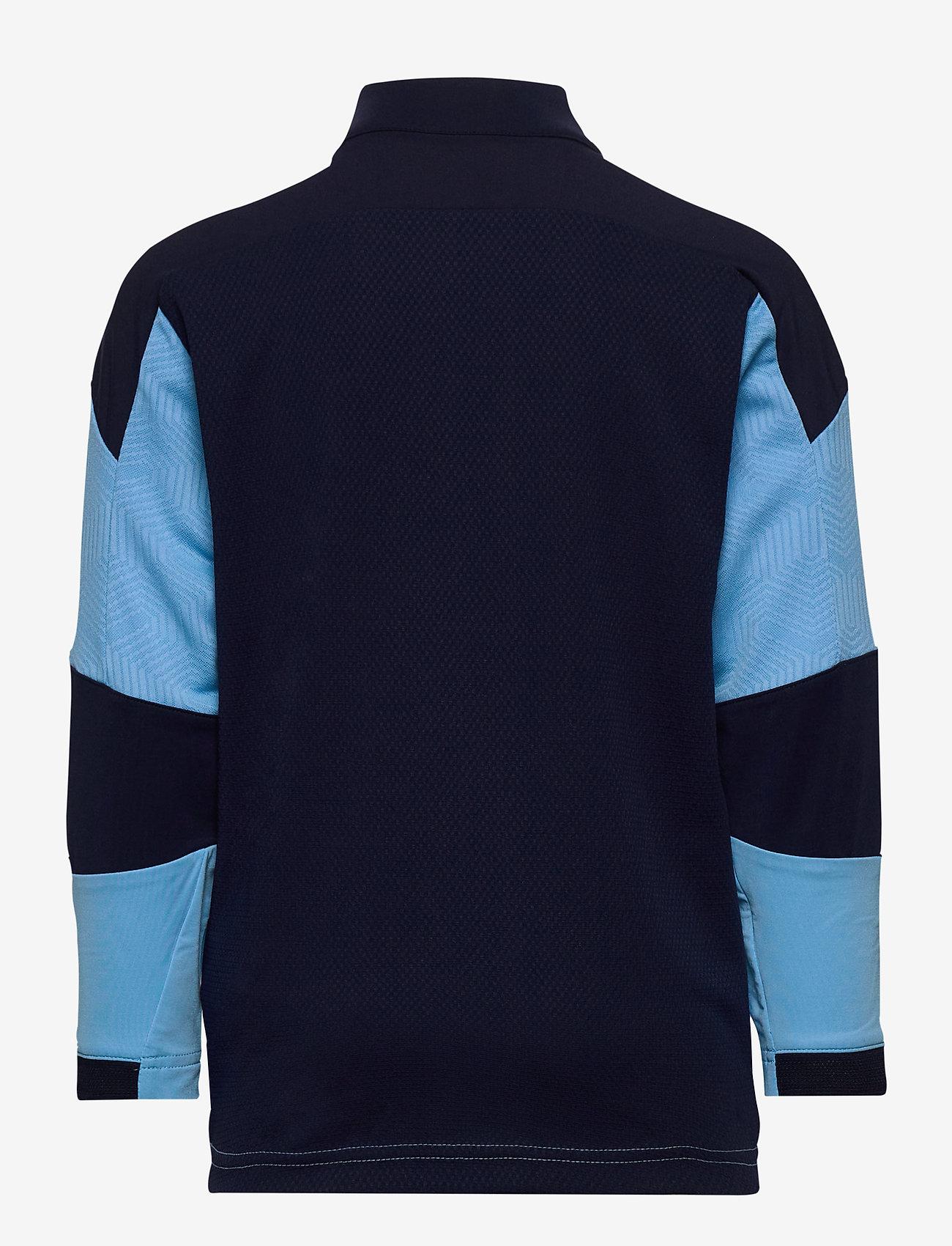 PUMA - MCFC 1/4 Zip Top Jr - sweatshirts - team light blue-peacoat - 1