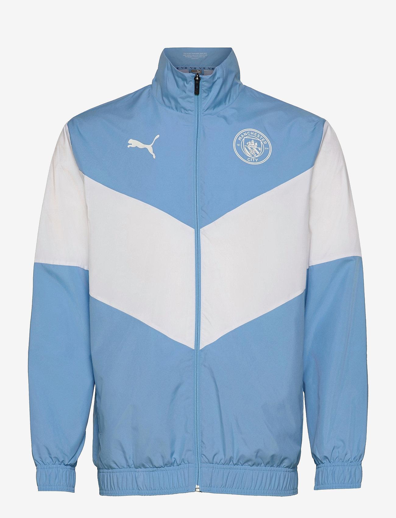PUMA - MCFC Prematch Jacket - sportjackor - team light blue-puma white - 0