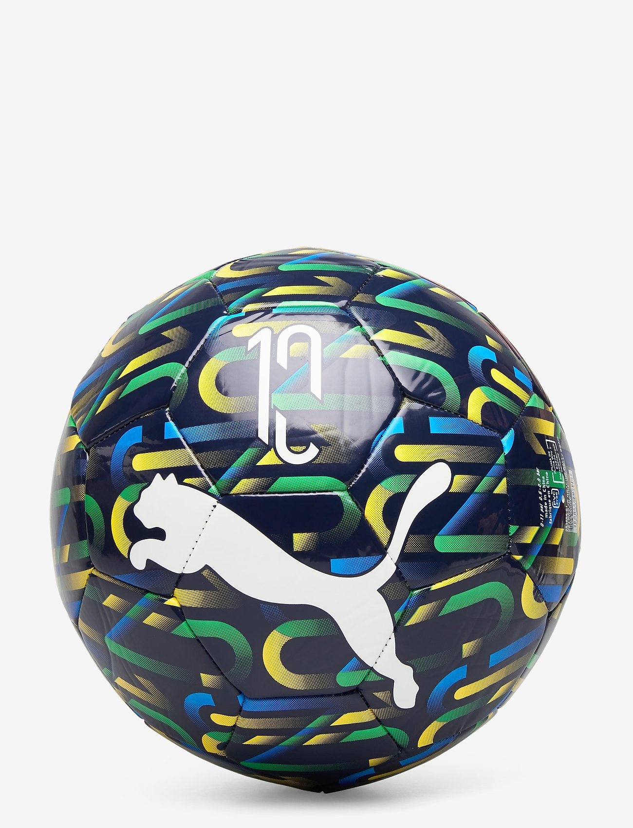 PUMA - NJR Fan Graphic ball - voetbaluitrusting - peacoat-dandelion-jelly bean-white - 1
