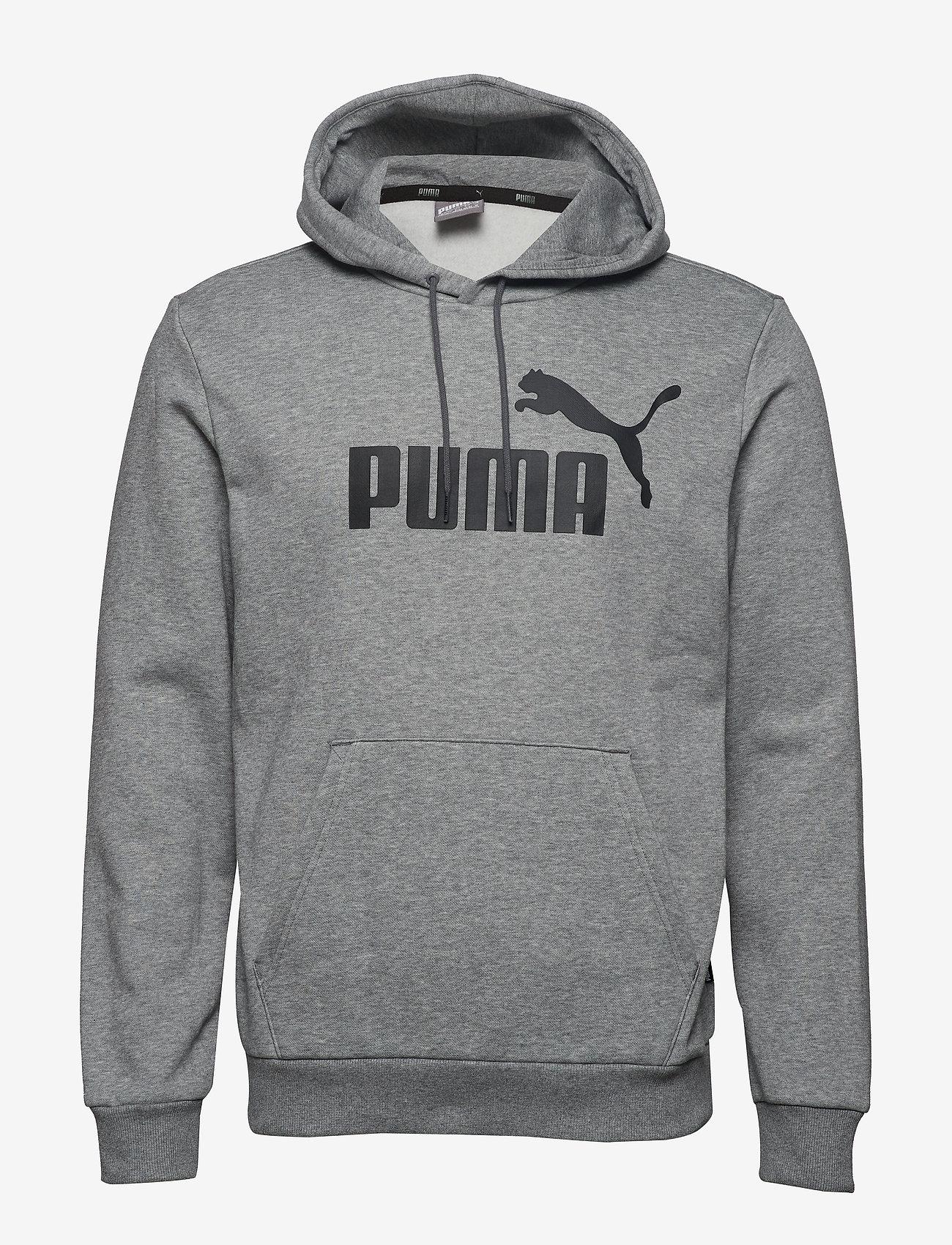PUMA - ESS Hoody FL Big Logo - hoodies - medium gray heather - 0
