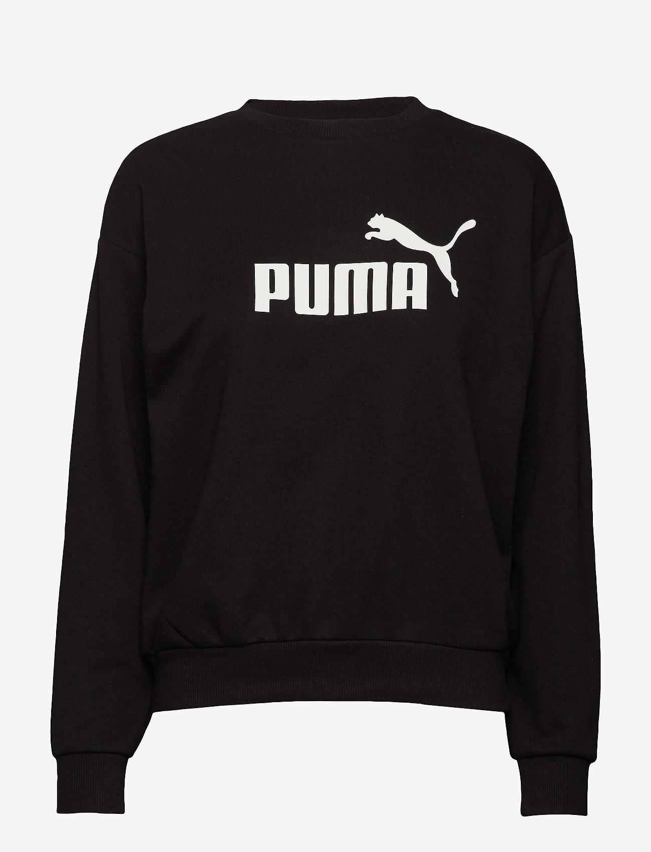 PUMA - ESS Logo Crew Sweat TR - svetarit - cotton black - 0